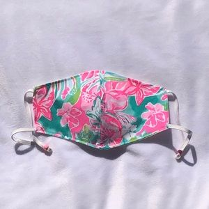 Hand Made Lilly Pulitzer Fabric Face Mask
